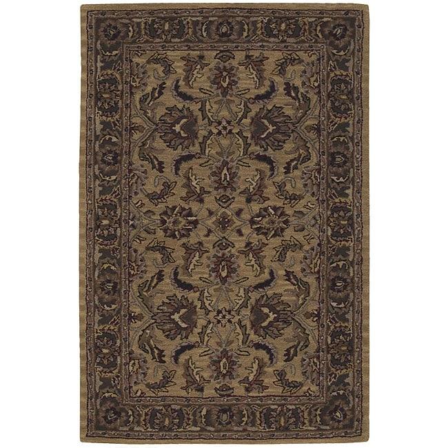 Nourison Hand-tufted Caspian Gold Wool Rug (3'6 x 5'6)