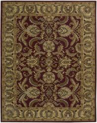 Nourison Hand-tufted Caspian Burgundy Wool Rug (8' x 10'6)