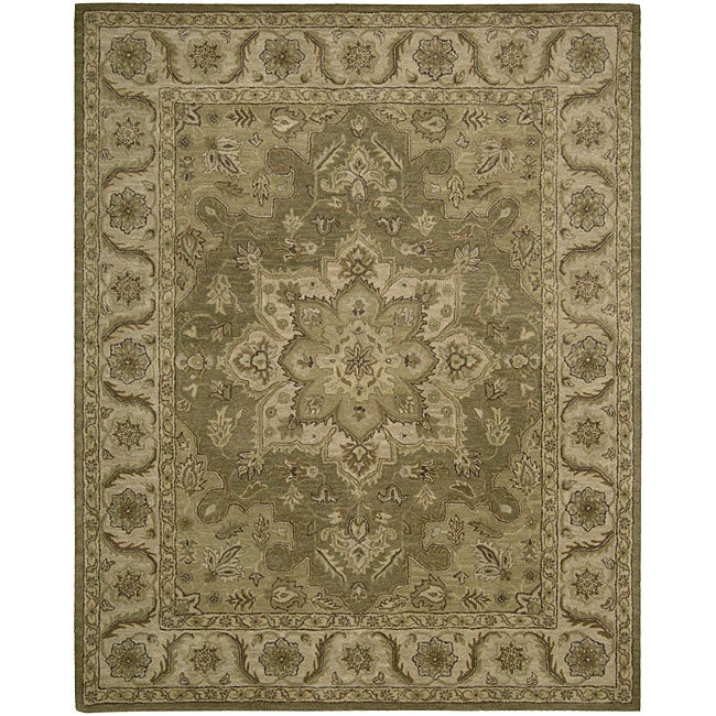 Nourison Hand-tufted Caspian Olive Wool Rug (8' x 10'6)