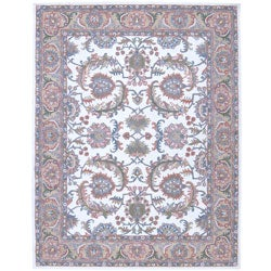 "Nourison Traditional Hand-Tufted Caspian Ivory Wool Rug (3'6"" x 5'6"")"