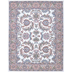 "Nourison Traditional Hand-Tufted Caspian Ivory Wool Rug (8' x 10'6"")"