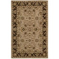 Nourison Hand-tufted Caspian Taupe Wool Rug (2'6 x 4')