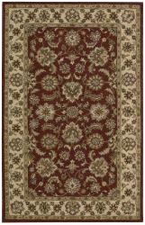 Nourison Hand-tufted Caspian Red Wool Rug (8' x 10'6)