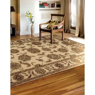 Hand-tufted India House Ivory Wool Rug (8' x 10'6)