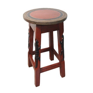 Handmade 'Alligator' Bar Stool/ Pedestal (Ghana)