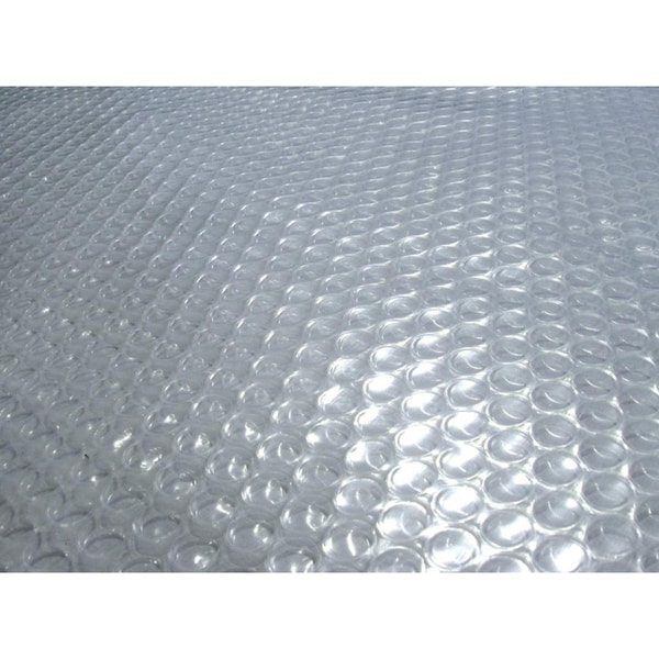 Blue Wave 12 ft. x 24 ft. Oval 12-mil Solar Blanket for Above Ground Pools - Clear 6641435