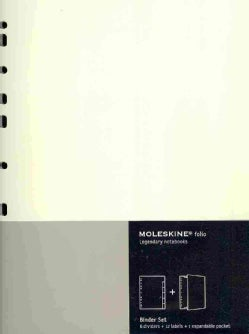 Moleskine Folio Professional Binder Set: 6 Dividers, 12 Labels, 1 Expandable Pocket (Organizer)