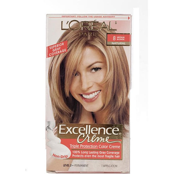 L Oreal Excellence Hair Color 8 Medium Blonde 12724893