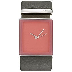 Philippe Starck Women's 'Tailgate' Leather Strap Watch