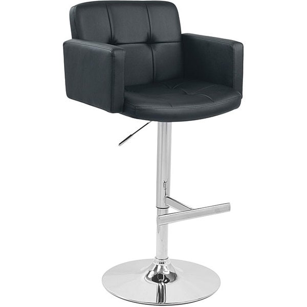 Stout Black Bar Stool