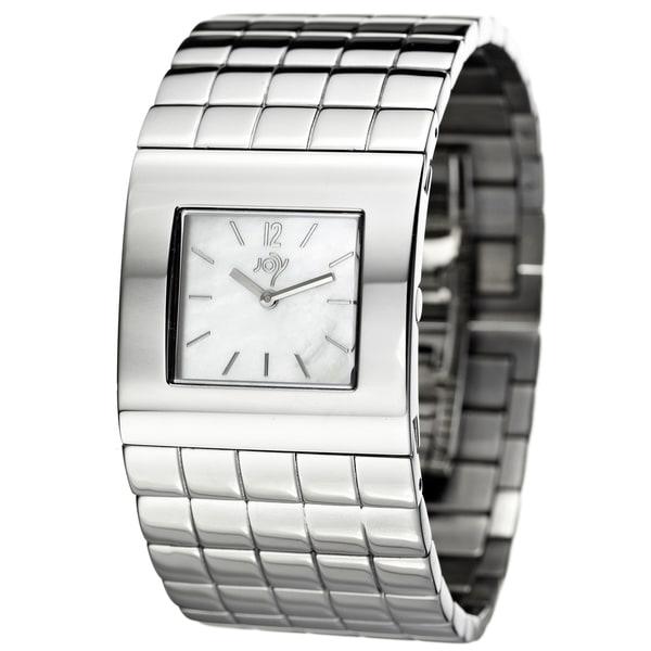 Joy Women's Cuadrods Stainless Steel Cuff Quartz Watch
