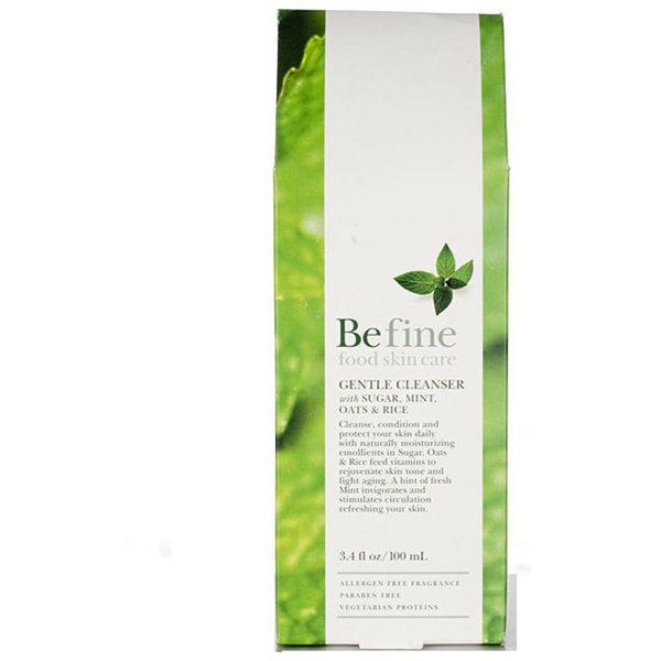 Be Fine 3.4-ounce Gentle Cleanser: Sugar, Mint, Oats & Rice