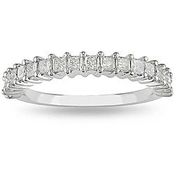 Miadora 14k White Gold 3/4ct TDW Diamond Anniversary Ring (H-I, I2-I3)