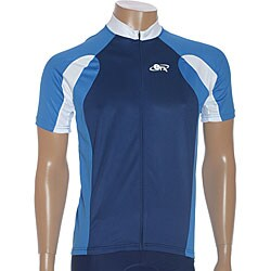 ETA Men's Short-Sleeve Blue Cycling Jersey