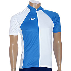 ETA Men's Short-sleeve Blue/ White Cycling Jersey