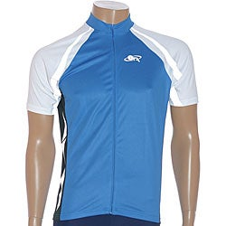 ETA Men's Short-sleeve White/ Blue Cycling Jersey