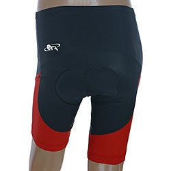 ETA Men's Black/Red Cycling Shorts