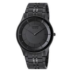 Citizen Men's Eco-Drive Stiletto Ion-plated Black Steel Watch