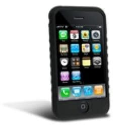 INSTEN Black Soft Silicone Skin Phone Case Cover for Apple iPhone 3GS