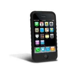 Black Silicone Skin Case for Apple iPhone 3GS