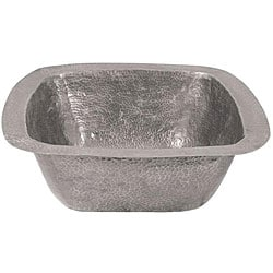 Large Copper Flat Lip Pewter Finish Bar/Prep Sink