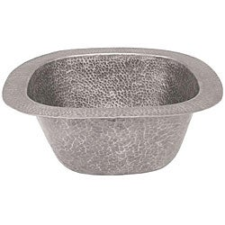 Small Copper Pewter Finish Bar/Prep Sink