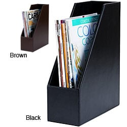 Dacasso 3200 Series Leather Magazine Rack