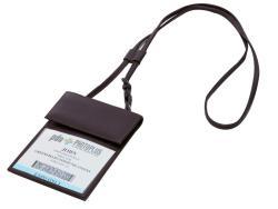 Dacasso Econo-Line Bonded-leather Badge Holder with Adjustable Slider