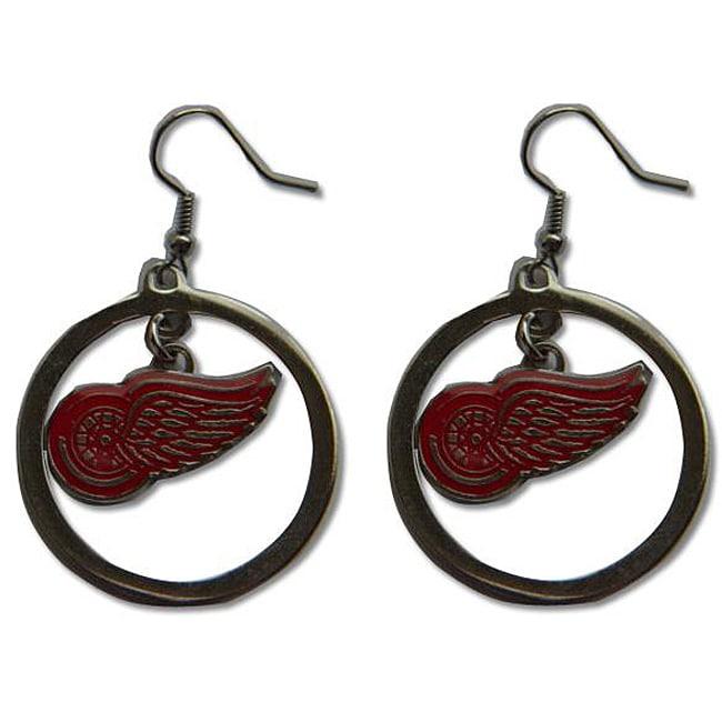 Detroit Red Wings NHL Hoop Logo Earrings