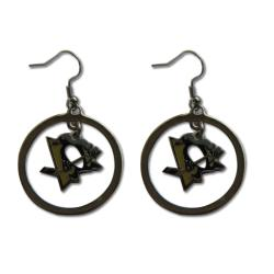 Pittsburgh Penguins NHL Hoop Logo Earrings