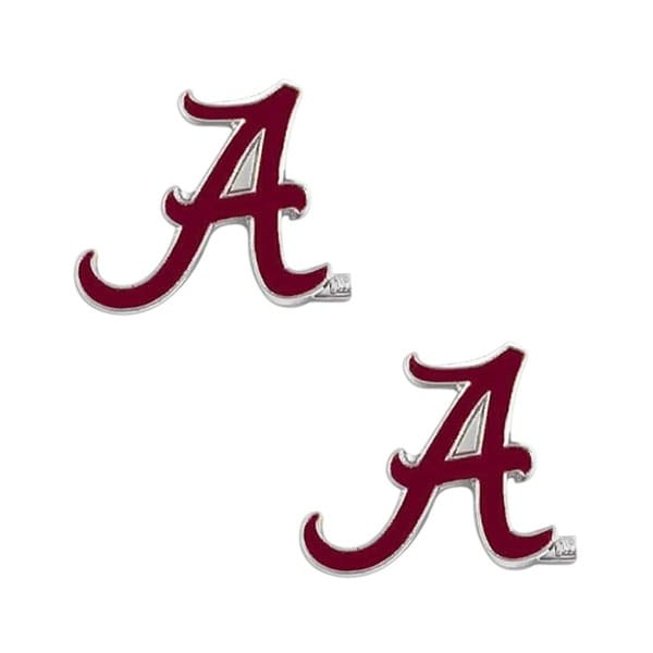 NCAA Alabama Crimson Tide Post Stud Logo Earring Set 6653349