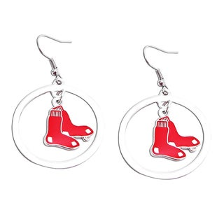 Boston Red Sox Dangle Logo Earrings