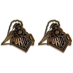 Purdue Boilermaker Post Stud Logo Earrings