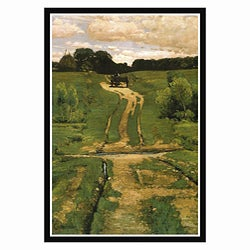 Frederick Childe Hassam 'Open Land' Framed Canvas Art
