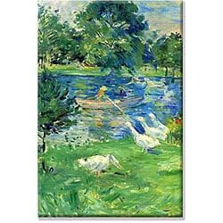 Berthe Morisot 'View in Bologne' Framed Art Print