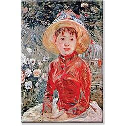 Berthe Morisot 'Young Girl' Canvas Art