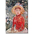 Berthe Morisot 'Young Girl' Canvas Art
