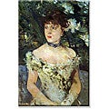 Berthe Morisot 'Young Woman' Canvas Art