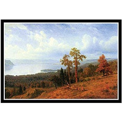 Albert Bierstadt 'View of the Hudson River Valley' Framed Print Art