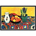 August Macke 'Still Life with Hyacinthe' Framed Print Art