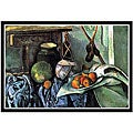 Paul Cezanne 'Still Life with Eggplant' Framed Canvas Art