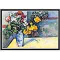 Paul Cezanne 'Still Life with Flowers in a Vase' Framed Print Art