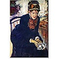 Edgar Degas 'Portrait of Miss Cassatt' Canvas Art