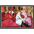 Toulouse-Lautrec 'Salon in the Rue de Moulins' Framed Art Print