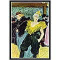 Toulouse-Lautrec 'The Clowness' Framed Art Print
