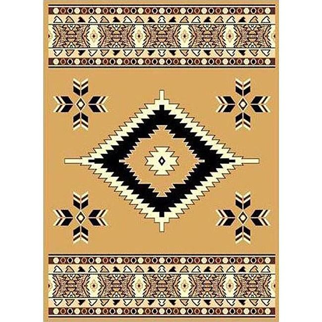 Berber Beige Southwestern Rug (4' x 6')