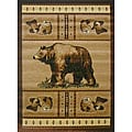 The Lodge Bear Beige Southwestern Rug (4' x 6')