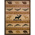 The Lodge Animal Beige Southwestern Rug (4' x 6')