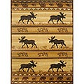 The Lodge Moose Southwestern Rug (8' x 11')