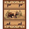 The Lodge Bears Southwestern Rug (4' x 6')